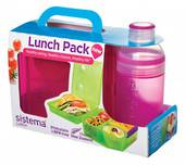 Sistema Lunch Cube and Trio Pack, Pink