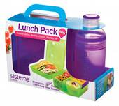 Sistema Lunch Cube and Trio Pack, Purple