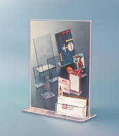 A4 Portrait, Upright Holder with business card holder