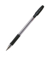 Pilot Ball Point Pens With Triangular Shaped Soft Rubber Grip, Black