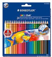 Noris Club Aquarell Colour Pencils, Brush Included, Pack of 24