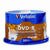 Printable White DVD-R, Spindle of 50