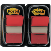 680 Post It Flags, Twin Pack, Red