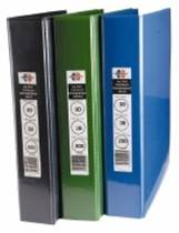 A4 Marbig Enviro Insert Binders, 4 Ring, 38mm, Blue