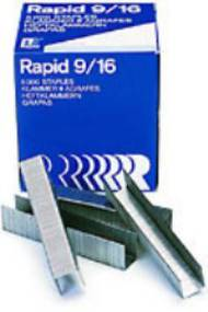 9/16 Heavy Duty Rapid Staples, Box Of 5000