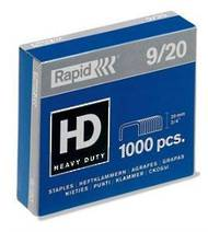 9/20 Heavy Duty Rapid Staples, Box Of 1000