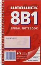 8B1 Spiral Note Book 7mm Ruled, 100 Pages