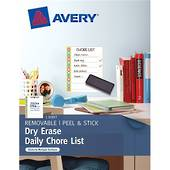 Avery Peel And Stick, Dry Erase Decal Labels, Chore List Daily, 1 Sheet