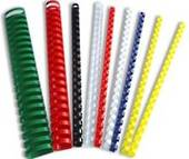Plastic Binding Coils, 8mm, Pack Of 10, Red