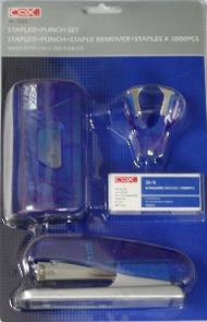 Cox Stapler And Punch Set, Transparent Blue