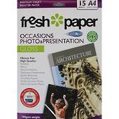 Fresh Paper Occasions Photo Paper, 180gsm, Gloss