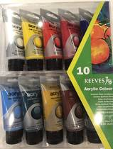 Reeves Fine Acrylic Paint, 75ml,set of 10