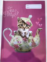 Spencil Slip on Book Covers, A4,Teapot Cat