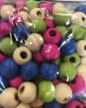 Bright Round Beads, 4colours, 156pc