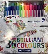 Staedtler Triplus Fineliners, 36colours, Neons and Brights