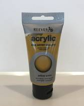 Reeves Fine Acrylic Paint, 75ml, Yellow Ochre