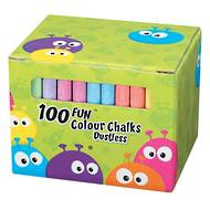 Fun Coloured Chalks, 100 Chalks