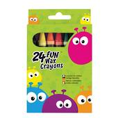 Fun Wax Crayons, 24 Pack