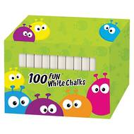 Fun White Chalks, 100 Chalks