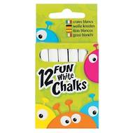 Fun White Chalks, 12 Chalks