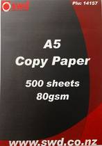 A5 Office Copy Paper, 80gsm , 1 Ream of 500 sheets, White