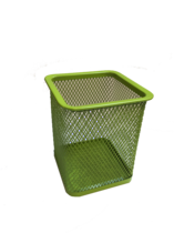 Funky Mesh Pencil Cup Holders Square, Lime Green