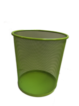 Funky Mesh Waste Paper Bins 28cm, Lime Green