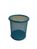 Funky Mesh Pencil Cup Holders Round, Turquoise