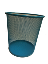 Funky Mesh Waste Paper Bins 28cm, Turquoise