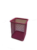 Funky Mesh Pencil Cup Holders Square, Pink