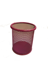 Funky Mesh Pencil Cup Holders Round, Pink