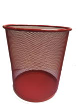 Funky Mesh Waste Paper Bins 28cm, Red