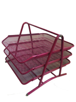 Funky Mesh Document Tray, 3Tier, Pink