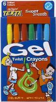 Texta gel Twist Crayons, Pack of 6