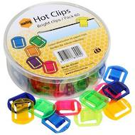 Marbig Hot Clips, Assorted Colours, Pack Of 60
