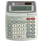 Marbig Large 12 Digit, Desk Top Calculator, With Gst Function, Silver