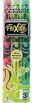 Pilot Frixion Erasable Highlighter Pens, Pack of 3