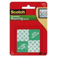 Scotch Heavy Duty Mounting Double Sided Squares, Permanent