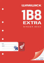 1B8 A4 Extra Exercise Book, 7mm Ruled, Punched, 128 Pages