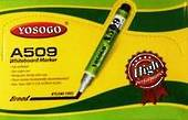 Office White Board Markers, Broad Point, Yosogo A509, Pack of 12, Green