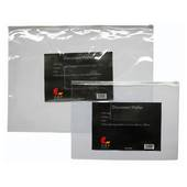 Transparent Data envelopes with White Zip closure,Side opening A4