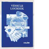 Collins A5 Blue Vehicle log book hard cover
