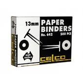 Celco 642 Paper Binders, 13mm, 200 Pieces