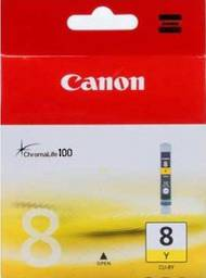 Canon CLI-8Y Inkjet Cartridges, Yellow