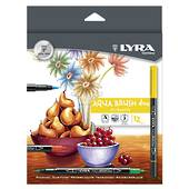 Lyra Duo Fibre and Brush Markers, set12