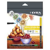 Lyra Duo Fibre and Brush Marker Set24