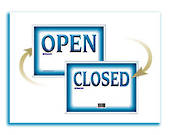 Writeraze Open and Close Sign