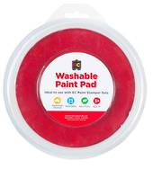 Washable Paint Pad, 15cm dia Red