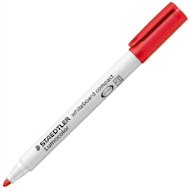 Staedtler Lumocolor Whiteboard Compact Markers, Red