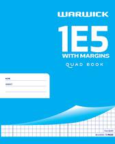 1E5 Maths Quad Exercise Book With Margin 7mm, 72 Pages